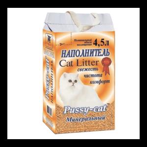Pussy-cat минеральный наполнитель для кошачьих туалетов (4,5л)