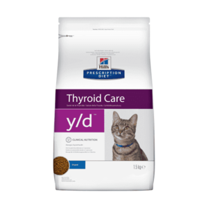 Сухой диетический корм для кошек Hill's Prescription Diet y/d Thyroid Care при заболеваниях щитовидной железы, 1,5 кг