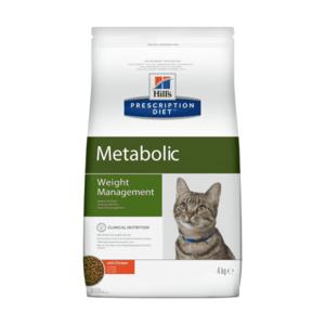 Сухой диетический корм для кошек Hill's Prescription Diet Metabolic способствует снижению и контролю веса, с курицей (1,5 кг 4 кг)