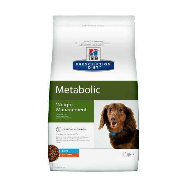 Сухой диетический корм для собак мелких пород Hill's Prescription Diet Metabolic Mini  способствует снижению и контролю веса, с курицей 1,5 кг