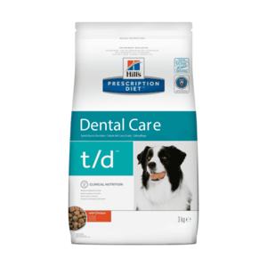 Сухой диетический корм для собак Hill's Prescription Diet t/d Dental Care для поддержания здоровья полости рта, с курицей (3 кг).