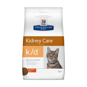 Сухой диетический корм для кошек Hill's Prescription Diet k/d Kidney Care при профилактике заболеваний почек, с тунцом (1,5 кг 5 кг)