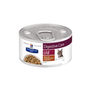 Влажный диетический корм для кошек Hill's  Prescription Diet  i/d  Рагу, при расстройстве жкт, с курицей и добавлением овощей 82 г