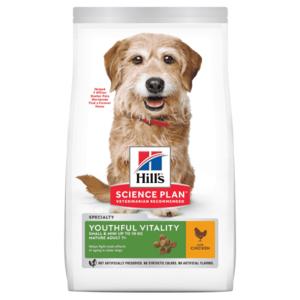 Hill's Science Plan Youthful Vitality сухой корм для пожилых собак (7+) мелких пород для поддержания здоровья в период старения, с курицей и рисом  (0,25 кг,  1,5 кг).