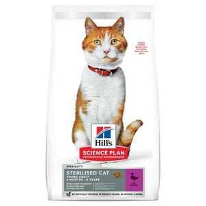 Сухой корм Hill's Science Plan для стерилизованных кошек в возрасте 6 месяцев - 6 лет, с уткой (1,5 кг 3 кг 10 кг)