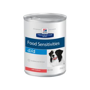 Влажный диетический корм для собак Hill's Prescription Diet d/d Food Sensitivities при пищевой аллергии, с лососем 370 г