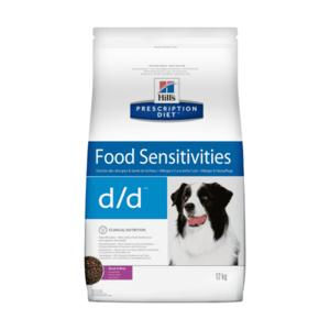 Сухой диетический корм для собак Hill's Prescription Diet d/d Food Sensitivities при аллергии, заболеваниях кожи и неблагоприятной реакции на пищу, с уткой и рисом (2 кг, 5 кг, 12 кг).