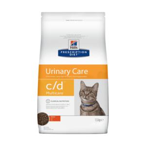 Сухой диетический корм для кошек Hill's Prescription Diet c/d Multicare Urinary Care при профилактике цистита и мочекаменной болезни (мкб), с курицей 1,5 кг