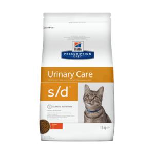 Сухой диетический корм для кошек Hill's Prescription Diet s/d Urinary Care при профилактике мочекаменной болезни (мкб),  курицей (1,5 кг 5 кг)