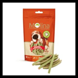 Molina Куриные полоски со шпинатом для собак мелких пород.