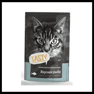 Пауч Tasty для кошек, рыба в желе (в упаковке 25 шт. по 85 гр.)