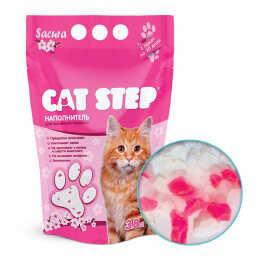"""Наполнитель для кошачьих туалетов """"Cat Step"""", силикагель, сакура, 3,8 л"""