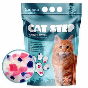 Наполнитель для кошачьих туалетов Cat Step, силикагель, лагуна, 3,8 л