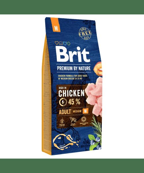 Brit Premium By Nature Adult M для взрослых собак средних пород с курицей