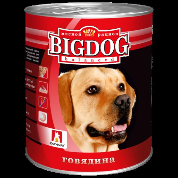 BigDog влажный корм для собак с говядиной, 850 гр.