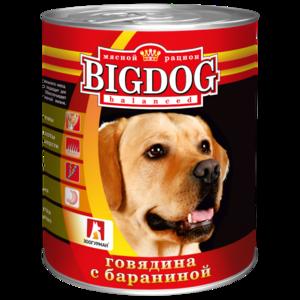 BigDog влажный корм для собак с говядиной и бараниной, 850 гр.