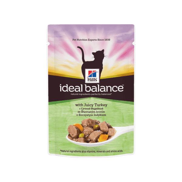 Hill's Ideal Balance влажный корм для кошек с сочной индейкой 85 г.