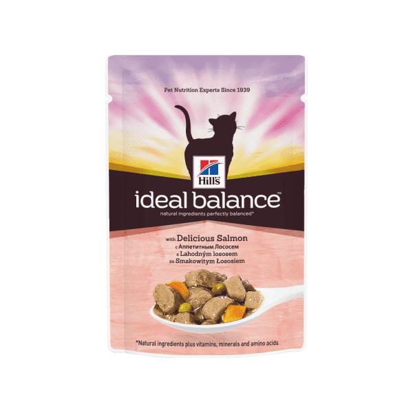 Hill's Ideal Balance влажный корм для кошек с аппетитным лососем 85 г