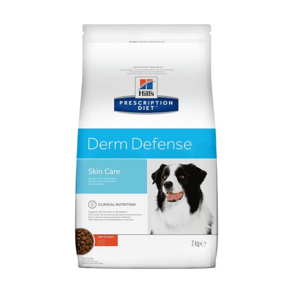 Сухой диетический корм для собак Hill's Prescription Diet Derm Defense Skin Care при аллергии, блошином и атопическом дерматите, с курицей (2  кг, 12 кг).