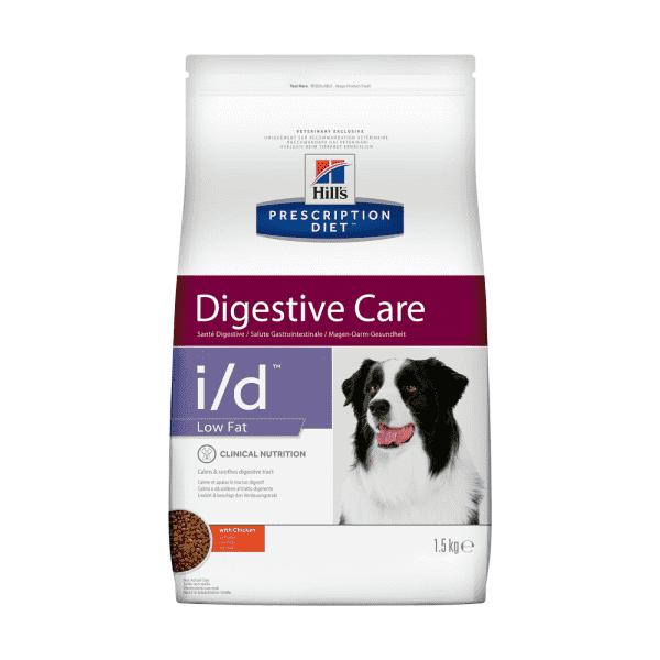 Сухой диетический корм для собак Hill's Prescription Diet i/d Low Fat Digestive Care при растройствах пищевания с низким содержанием жира, с курицей (1,5 кг 12 кг)