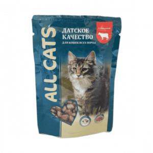 Консервы All Cats для кошек с говядиной (в упаковке 25 шт. по 85 гр.)