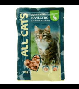 Консервы All Cats для кошек с кроликом (в упаковке 25 шт. по 85 гр.)