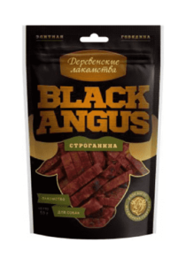 Деревенские лакомства для собак,  Black angus строганина
