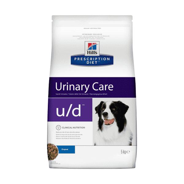 Сухой диетический корм для собак Hill's Prescription Diet u/d Urinary Care при хронической болезни почек, 5 кг.