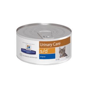 Влажный диетический корм для кошек Hill's Prescription Diet s/d Urinary Care при профилактике мочекаменной болезни (мкб), 156 г