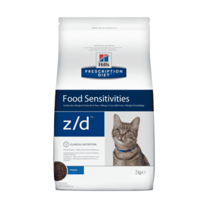 Сухой диетический гипоаллеренный корм для кошек  Hill's Prescription Diet z/d Food Sensitivities при пищевой аллергии, 2 кг