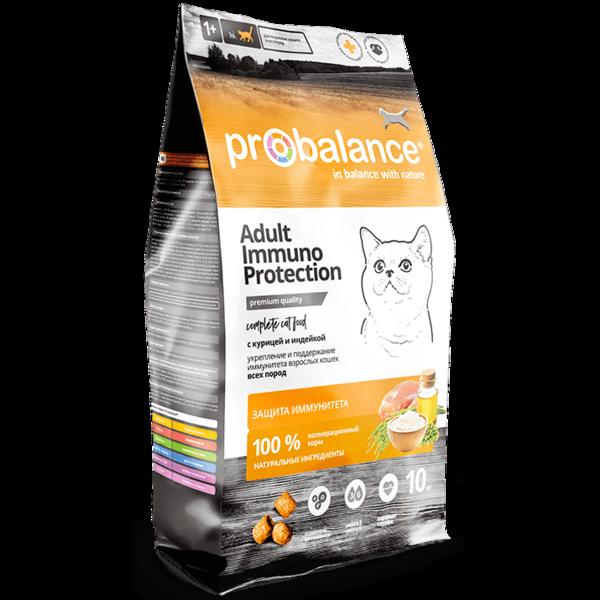 Pro Balance Immuno сухой корм для кошек с курицей и индейкой (10 кг)