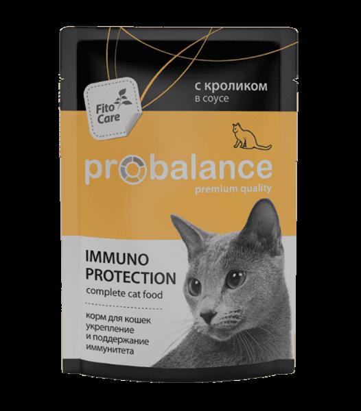 Пауч ProBalance для кошек с кроликом в соусе (в упаковке 25 шт. по 85 гр.)