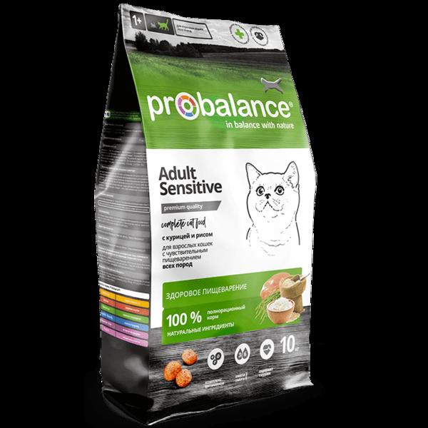 Pro Balance Sensitive сухой корм для кошек с курицей и рисом (10 кг)