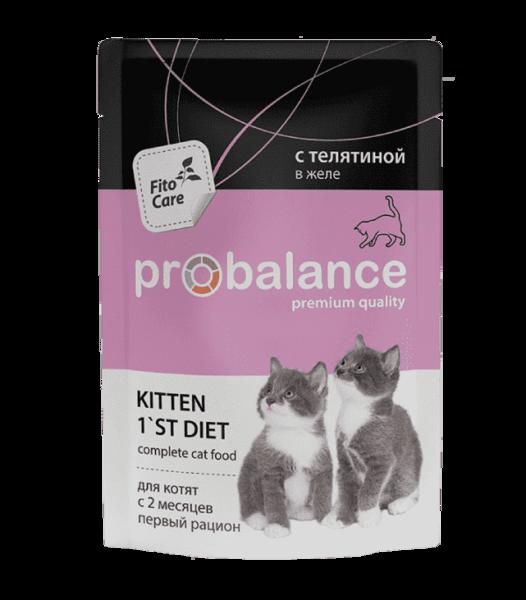 Пауч ProBalance для котят с телятиной в желе (в упаковке 25 шт. по 85 гр.)