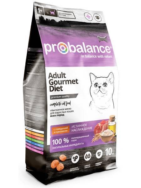 Pro Balance Gourmet сухой корм для кошек с говядиной и кроликом (10 кг).