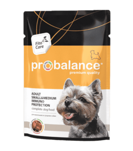 Пауч Probalance Immuno, укрепление иммунитета  для собак с курицей в соусе.