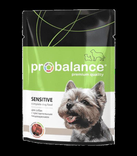 Пауч Probalance для собак с чувствительным пищеварением с курицей в соусе.