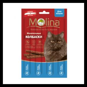 Molina Жевательные колбаски из лосося и форели для кошек