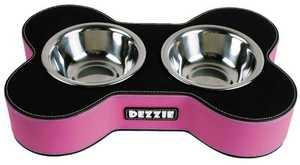 Dezzie Миска для щенков, 2*11см черно-сиреневая