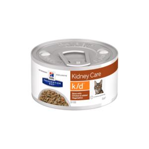 Hill's Prescription Diet k/d Рагу, влажный корм для кошек при лечении заболеваний почек, с курицей и добавлением овощей 82 г