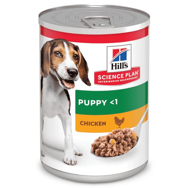 Консервы Hill's Science Plan для щенков для поддержания здорового роста и развития, с курицей 370 г
