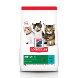Сухой корм Hill's Science Plan для котят для здорового роста и развития, с тунцом  (0,3 кг, 1,5 кг 7 кг).