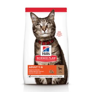 Сухой корм Hill's Science Plan для взрослых кошек для поддержания жизненной энергии и иммунитета, с ягненком (0,3 кг, 1,5 кг 3 кг, 10 кг)