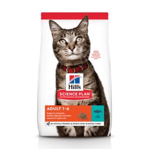 Сухой корм Hill's Science Plan для взрослых кошек для поддержания жизненной энергии и иммунитета, с тунцом (0,3 кг, 1,5 кг 3 кг, 10 кг)