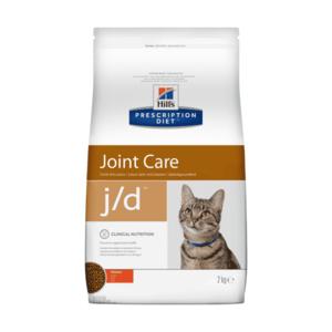 Сухой диетический корм для кошек Hill's Prescription Diet j/d Joint Care способствует поддержанию здоровья и подвижности суставов, с курицей 2 кг