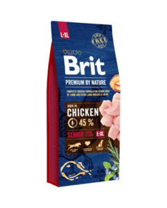 Brit Premium By Nature Seniior L+XL для пожилых собак крупных и гигантских пород с курицей
