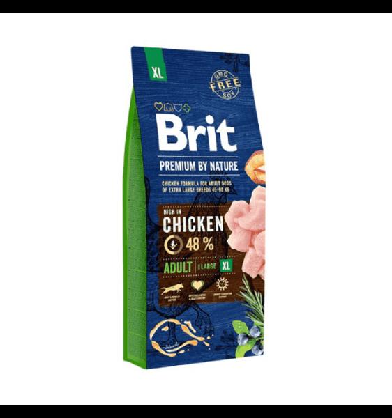 Brit Premium By Nature Adult XL для взрослых собак очень крупных пород с курицей