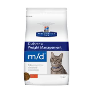 Сухой диетический корм для кошек Hill's Prescription Diet m/d Diabetes/при сахарном диабете, курицей 1,5 кг