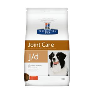 Сухой диетический корм для собак Hill's Prescription Diet j/d Joint Care способствует поддержанию здоровья и подвижности суставов, с курицей (2 кг, 12 кг).