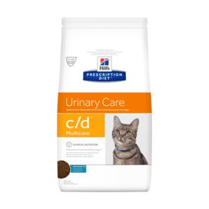 Сухой диетический корм для кошек Hill's Prescription Diet c/d Multicare Urinary Care при профилактике цистита и мочекаменной болезни (мкб), с рыбой 1,5 кг